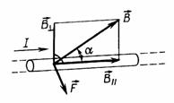 Направление силы Ампера (правило левой руки)