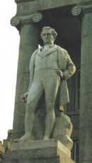 Statue of Sir Humphry Davy in Penzance, Cornwall, England