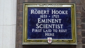 The St Helens Bishopsgate memorial in the City of London cemetery where Robert Hooke's body was placed in the 19th century